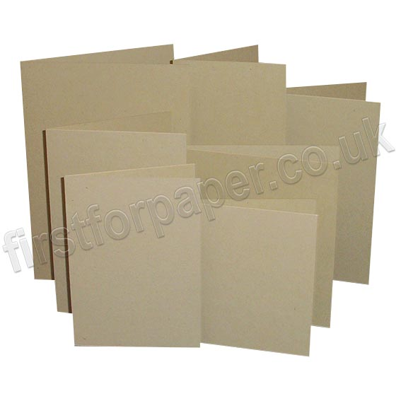 Harrier Speckled, Pre-Creased, Single Fold Cards, Tan