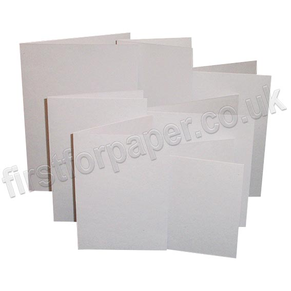 Harrier Speckled, Pre-Creased, Single Fold Cards, Natural White