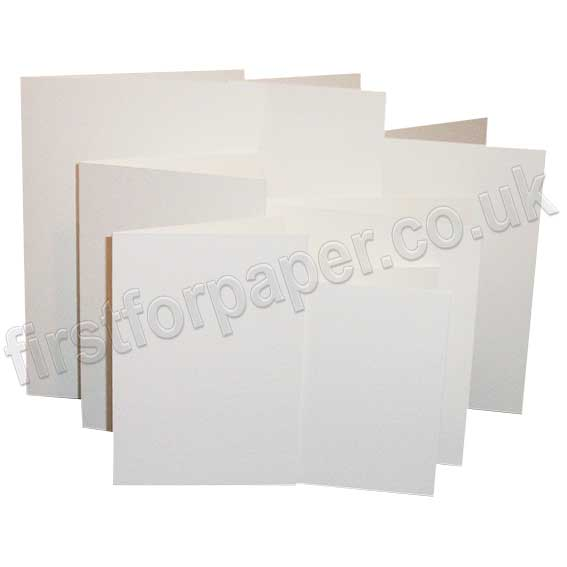 Linen Texture, Pre-Creased, Single Fold Cards, Brilliant White