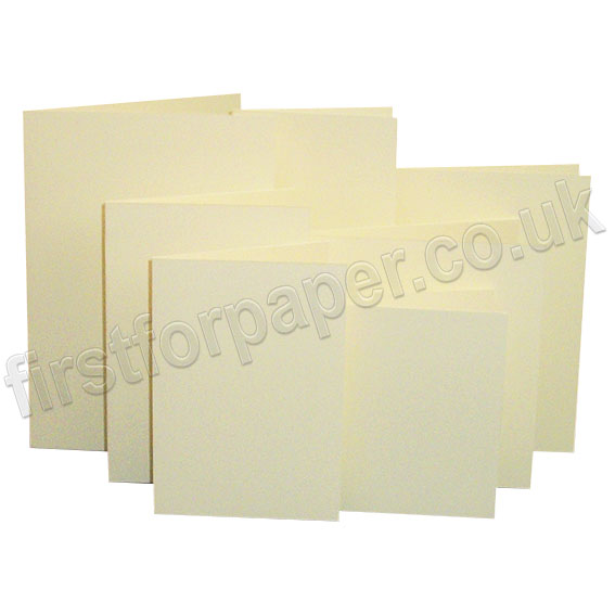 Linen Texture, Pre-Creased, Single Fold Cards, Cream