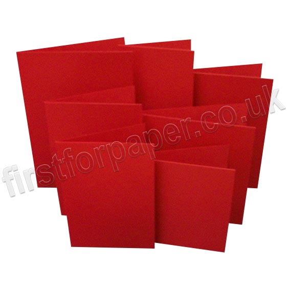 Rapid Colour, Pre-Creased, Single Fold Cards, Blood Red