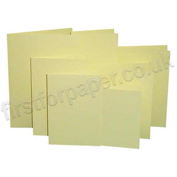 Rapid Colour, Pre-Creased, Single Fold Cards, Bunting Yellow