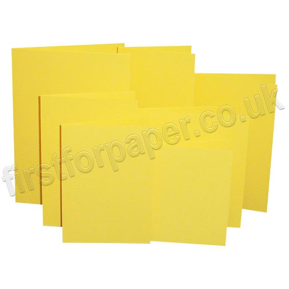 Rapid Colour, Pre-Creased, Single Fold Cards, Canary Yellow
