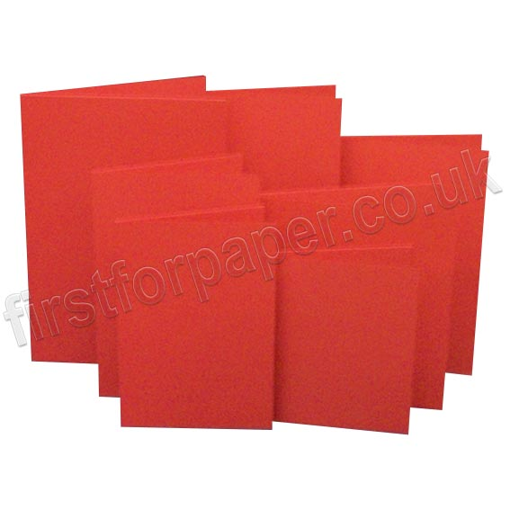 Rapid Colour, Pre-Creased, Single Fold Cards, Robin Red