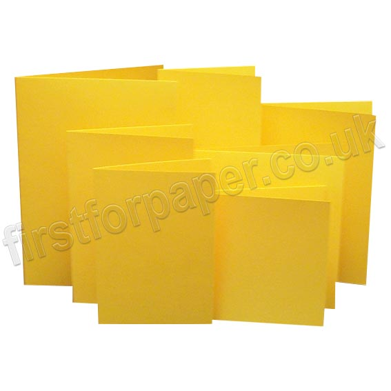Rapid Colour, Pre-Creased, Single Fold Cards, Goldcrest Yellow