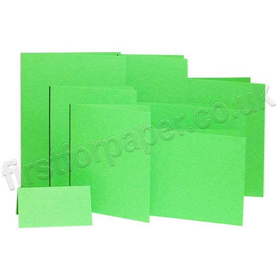 Rapid Colour, Pre-Creased, Single Fold Cards, Lime Green