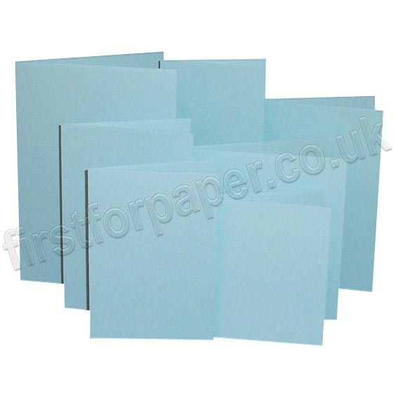 Rapid Colour, Pre-Creased, Single Fold Cards, Merlin Blue