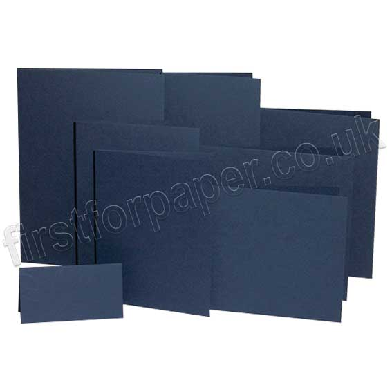 Rapid Colour, Pre-Creased, Single Fold Cards, Navy Blue