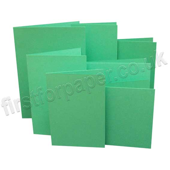 Rapid Colour, Pre-Creased, Single Fold Cards, Ocean Green