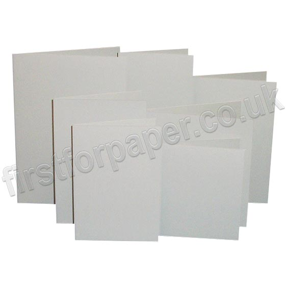Rapid Colour, Pre-Creased, Single Fold Cards, Pale Grey