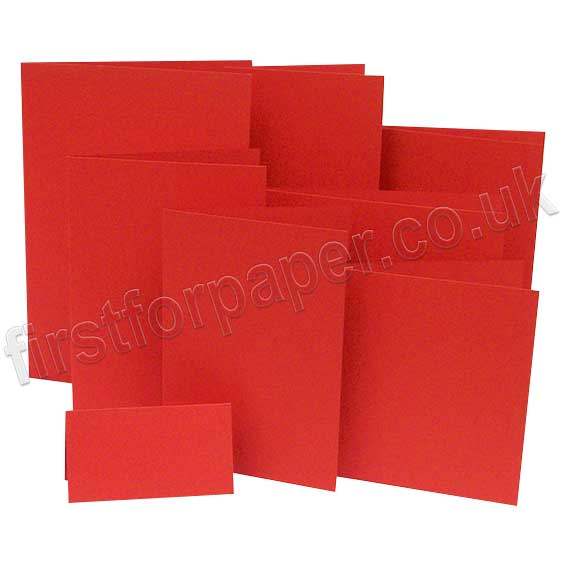 Rapid Colour, Pre-Creased, Single Fold Cards, Rouge Red