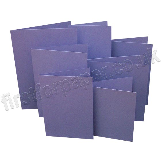 Rapid Colour, Pre-Creased, Single Fold Cards, Violet