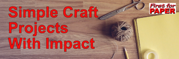 Wording: simple craft projects with impact on backgrounnd of tabletop
