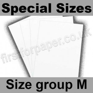 Swift White Card, 250gsm, Special Sizes, (Size Group M)