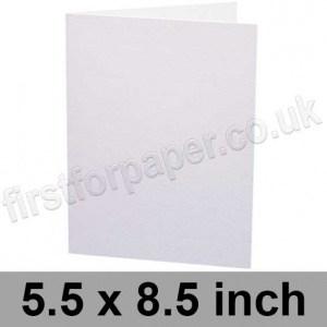 Swift, Pre-creased, Single Fold Cards, 250gsm, 140 x 216mm (5.5 x 8.5 inch), White