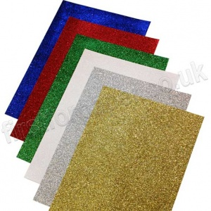 Glitter Paper, A4 - 12 Assorted Sheets