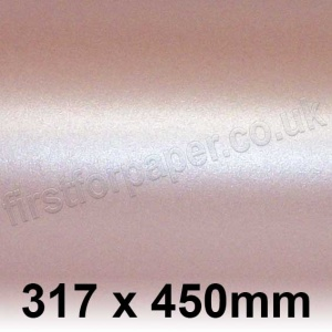 Centura Pearl, Single Sided, 310gsm, 317 x 450mm, Baby Pink