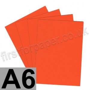 Colorset Recycled Card, 350gsm,  A6, Deep Orange