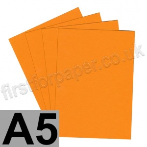 Colorset Recycled Card, 270gsm,  A5, Mango