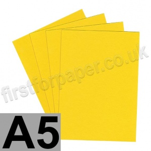 Colorset Recycled Card, 350gsm,  A5, Solar