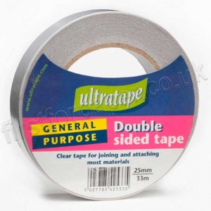 Double Sided Clear Tape, 25mm x 33m