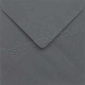 Colorset Gummed Envelopes, 155mm Square, Dark Grey - 250 Envelopes