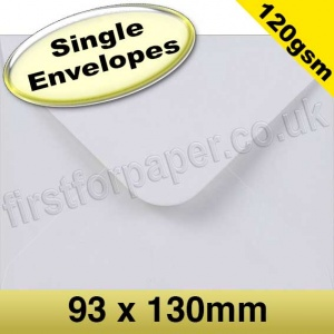 Premium Gummed Greetings Card Envelope, 120gsm, 93 x 130mm, White