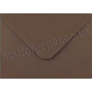 Spectrum Greetings Card Envelope, C6 (114 x 162mm), Chocolate Brown - 50 Envelopes