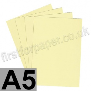 Rapid Colour Card, 160gsm,  A5, Bunting Yellow