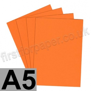 Rapid Colour Paper, 120gsm,  A5, Fantail Orange