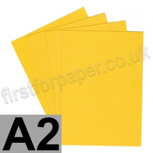 Rapid Colour Paper, 120gsm,  A2, Goldcrest Yellow