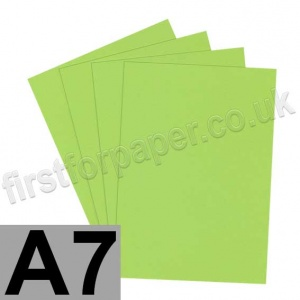 Rapid Colour Card, 160gsm, A7, Lime Green