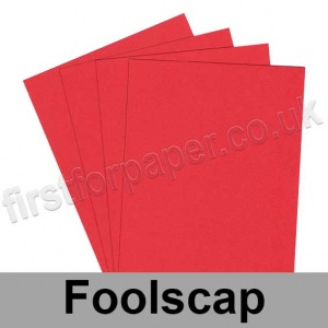 Rapid Colour Paper, 120gsm, 203 x 330mm (Foolscap), Rouge Red
