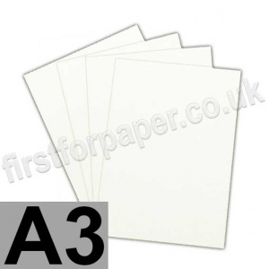 Ruskington, 100gsm, A3, Milk White