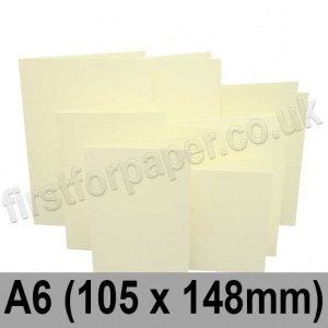Rapid Colour Card, Pre-creased, Single Fold Cards, 225gsm, 105 x 148mm (A6), Chamois