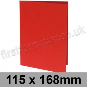 Rapid Colour Card, Pre-creased, Single Fold Cards, 225gsm, 115 x 168mm, Rouge Red