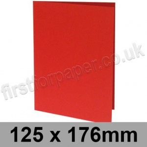 Rapid Colour Card, Pre-creased, Single Fold Cards, 225gsm, 125 x 176mm, Rouge Red