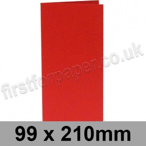 Rapid Colour Card, Pre-creased, Single Fold Cards, 225gsm, 99 x 210mm, Rouge Red