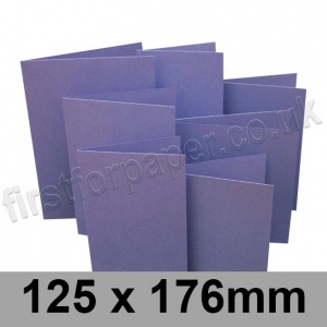 Rapid Colour Card, Pre-creased, Single Fold Cards, 225gsm, 125 x 176mm, Violet