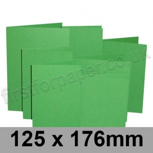 Rapid Colour Card, Pre-creased, Single Fold Cards, 225gsm, 125 x 176mm, Woodpecker Green
