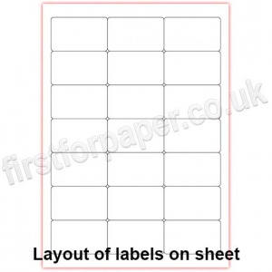 Mutipurpose White Office Labels, 63.5 x 38.1mm, 100 sheets per box