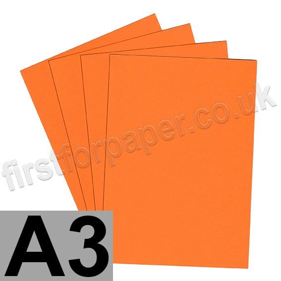 Rapid Colour Card, 160gsm, A3, Fantail Orange
