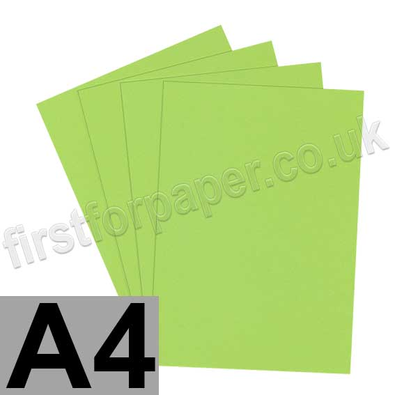 rapid colour card 160gsm a4 lime green first for paper