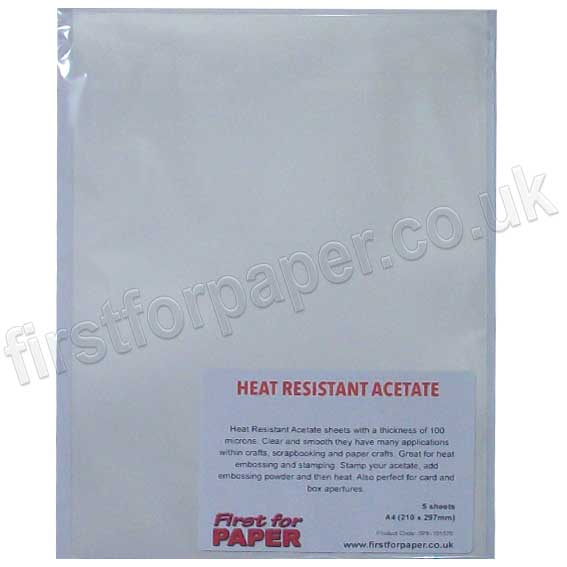 Crafters Companion Heat Resistant Acetate 5 Sheet Pack