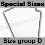 Swift White Card, 250gsm, Special Sizes, (Size Group D)