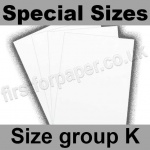 Swift White Card, 250gsm, Special Sizes, (Size Group K)