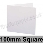 Swift, Pre-creased, Single Fold Cards, 300gsm, 100mm Square, White