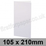 Swift, Pre-creased, Single Fold Cards, 300gsm, 105 x 210mm, White