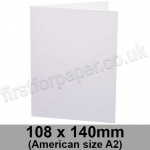 Apache Pulpboard, Pre-creased, Single Fold Cards, 380mic (280gsm), 108 x 140mm (American A2), White