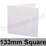 Swift, Pre-creased, Single Fold Cards, 250gsm, 133mm Square, White